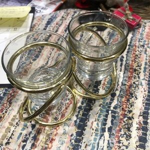 Partylite brass intertwined candle holder